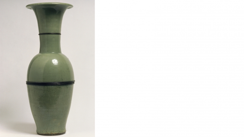 Northern Song Dynasty, Chinese, 960 - 1127, Vase, Northern Song Dynasty, 960-1127, porcelain with celadon glaze. Hood Museum of Art, Dartmouth: Gift of Evelyn A. and William B. Jaffe, Class of 1964H; C.958.363.