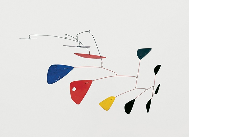 Alexander Calder,Mobile,about 1953, painted sheet aluminum and wire