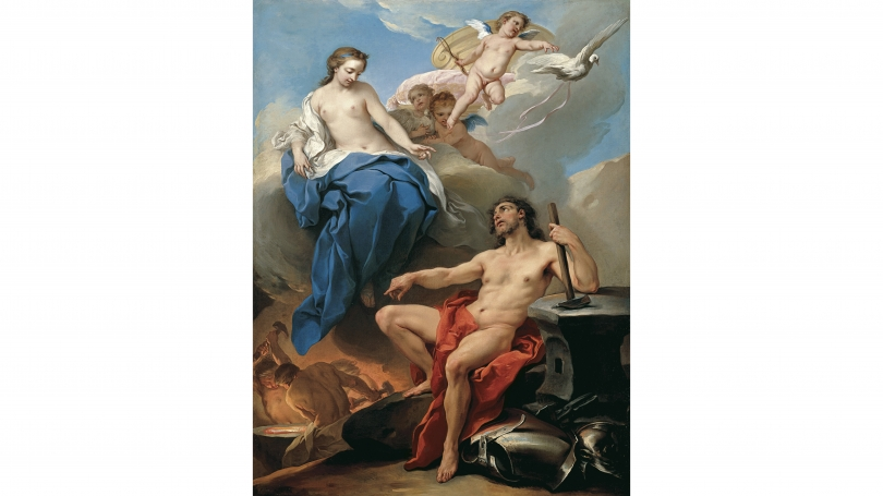 Carle van Loo, Venus Requesting Vulcan to make Arms for Aeneas, about 1735, oil on canvas. Purchased through a gift from Jane and W. David Dance, Class of 1940 and the Mrs. Harvey P. Hood W'18 Fund; 2005.2.