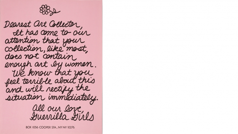 Guerrilla Girls, Dearest Art Collector