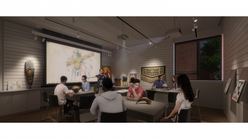 Rendering of the museum's new Center for Object-Based Inquiry (COBI)