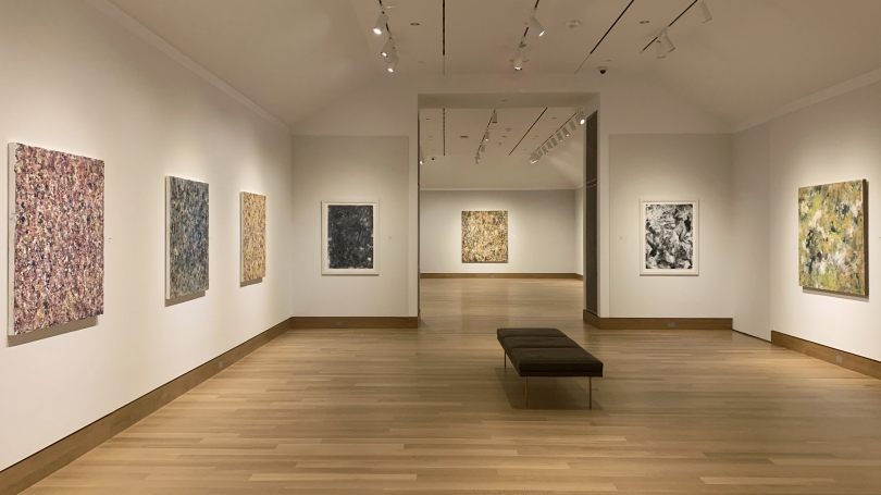 In the Midst of Something Splendid: Recent Paintings by Colleen Randallon view in the Jaffe and Hall Galleries through May 31. Photo by Alison Palizzolo.