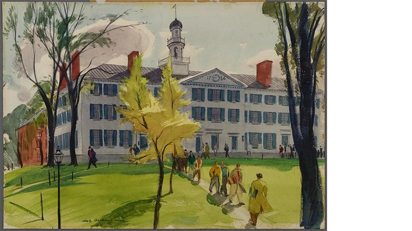 Hardie Gramatky, Dartmouth Hall, 1937