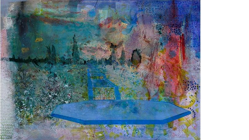 Bahar Behbahani, Let the Garden Eram Flourish, 2016, mixed media on canvas