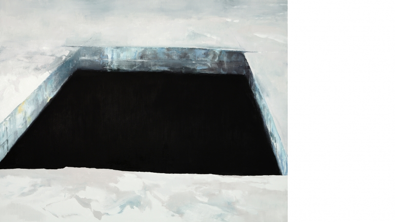 Eric Aho, Ice Cut (1932), 2010, oil on linen. Purchased through the Virginia and Preston T. Kelsey '58 Fund; 2015.24.1. Photo by Rachel Portesi.