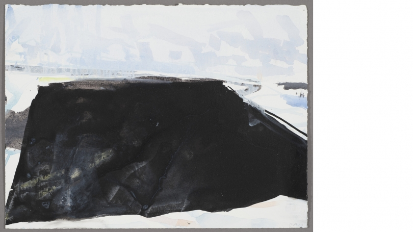 Eric Aho, Ice Cut III, 2010, gouache, ink, and watercolor on gessoed paper. Gift of the artist; 2015.39.1. Photo by Rachel Portesi.