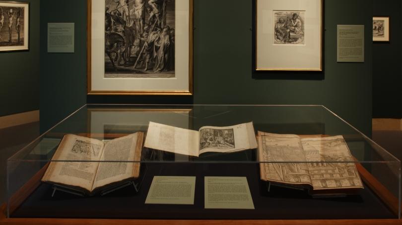 Envisioning Jerusalem: Prints from Dürer to Rembrandt installed in the Hood Museum's Harrington Gallery. Photo by Jeffrey Nintzel.