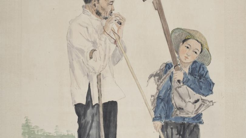 Fan Tchunpi, Blind Beggar with Child