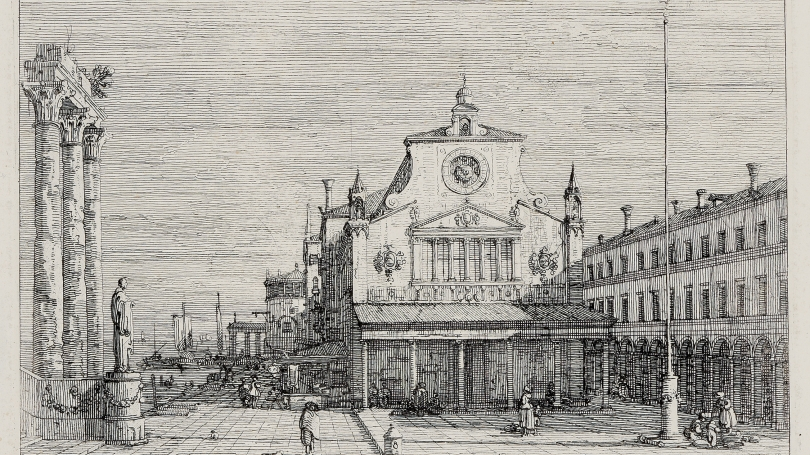 Giovanni Antonio Canal (Canaletto), Imaginary View of San Giacomo di Rialto