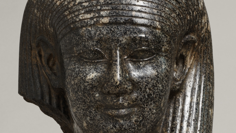 Colossal head of a god