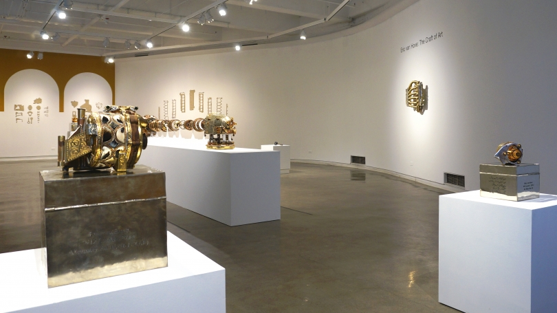 Eric van Hove: The Craft of Art, located in Jaffe-Friede Gallery, Hopkins Center. Photo by Alison Palizzolo.