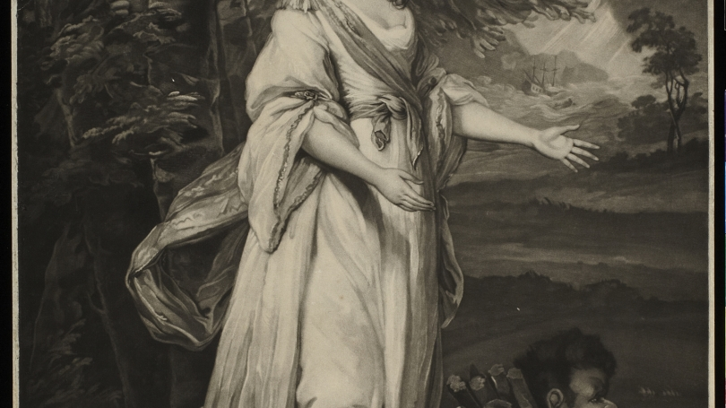 John Jones after Sir Joshua Reynolds, Mrs. Tollemache in the Character of Miranda