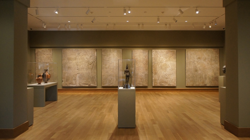 The Global Cultures: Ancient and Premodern installation in the newly renovated Kim Gallery. Photo by Alison Palizzolo.