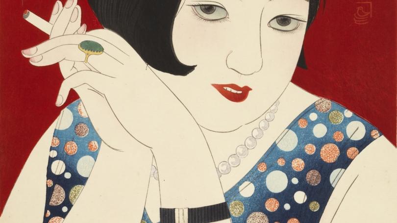 Kobayakawa Kiyoshi, Modern Fashions: No. 1 Tipsy