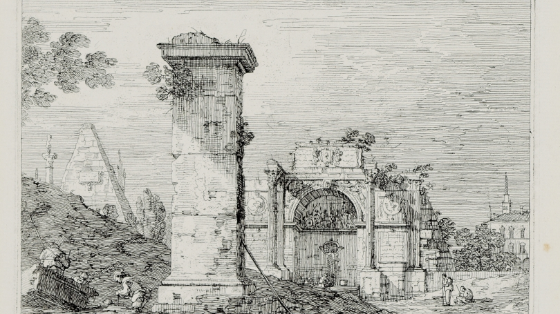 Giovanni Antonio Canal (Canaletto), Landscape with Ruined Monuments