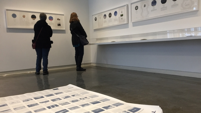 Mining Big Data: Amy Balkin and Luis Delgado-Qualtrough on view in Strauss Gallery, Hopkins Center for the Arts, Dartmouth. Photo by Alison Palizzolo.