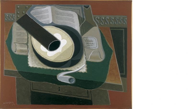 Juan Gris, Spanish, 1887-1927, Mandolin and Pipe, 1925, oil on canvas, 24 x 29 in. (61 x 73.6 cm). Hood Museum of Art, Dartmouth: Gift of Ruth M. and Charles R. Lachman; P.959.128.