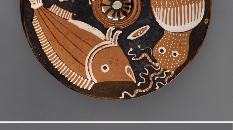 South Italian, red-figure fish plate