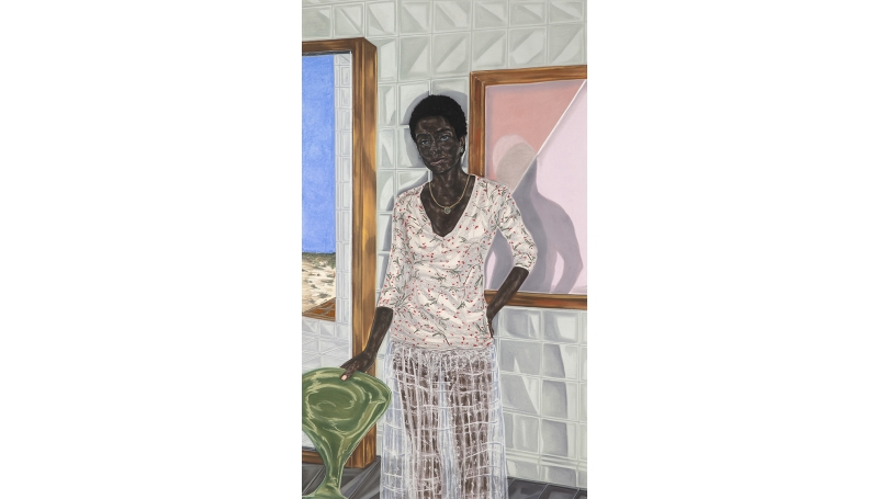 Toyin Ojih Odutola, Pregnant, 2017, charcoal, pastel and pencil on paper. © Toyin Ojih Odutola. Courtesy of the artist and Jack Shainman Gallery, New York