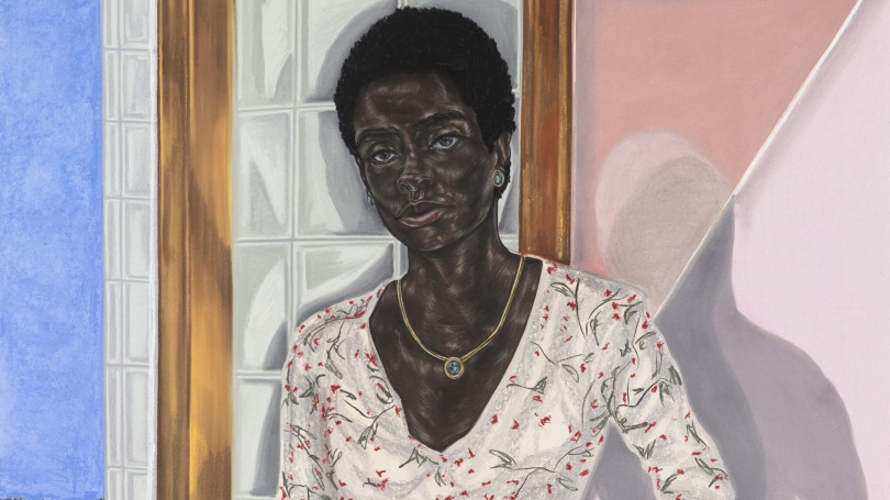 Toyin Ojih Odutola, Pregnant (detail), 2017, charcoal, pastel and pencil on paper. © Toyin Ojih Odutola. Courtesy of the artist and Jack Shainman Gallery, New York.