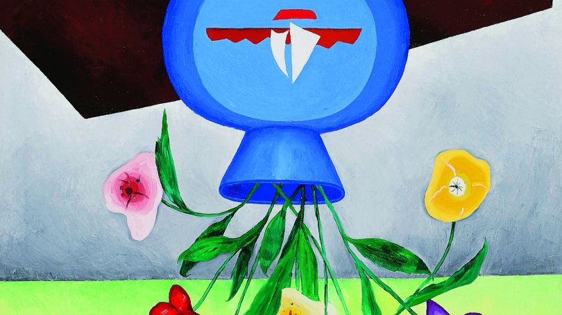 Jonathan Borofsky, Upside Down Flowers #2