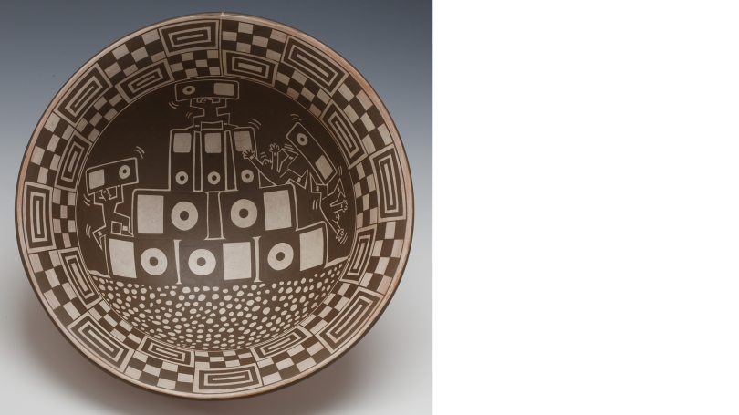 Diego Romero (Cochiti Pueblo), Pod Mound, 2010, native clay and slip, kiln fired. Hood Museum of Art, Dartmouth: Purchased through the Kira Fournier and Benjamin Schore Sculpture Fund and the Hood Museum of Art Acquisitions Fund; 2010.54. © Diego Romero
