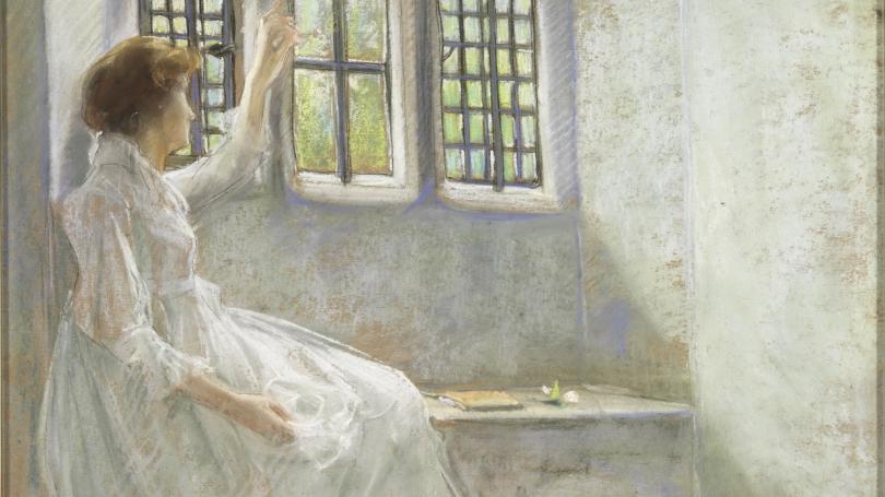 J. Alden Weir, The Window Seat