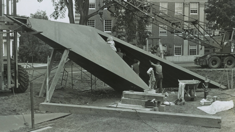 Assembly of Thel by American sculptor Beverly Pepper, about 1978.