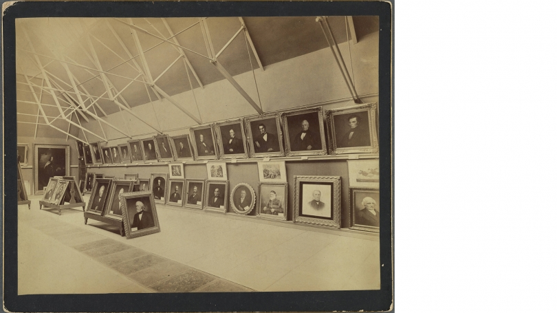 Dartmouth gallery of paintings in Wilson Hall, late nineteenth century