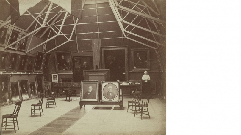 Interior of Wilson Hall, 1888. Courtesy of the Dartmouth College Library.