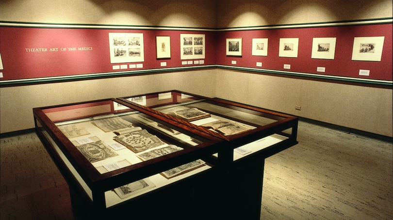 The exhibition Theater Art of the Medici, Hopkins Center Art Galleries, 1980.