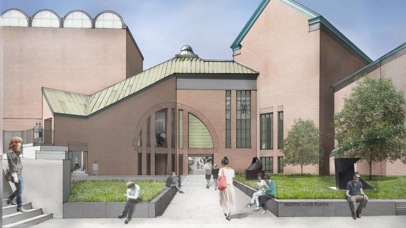 Artist rendering of the south façade of expanded Hood Museum