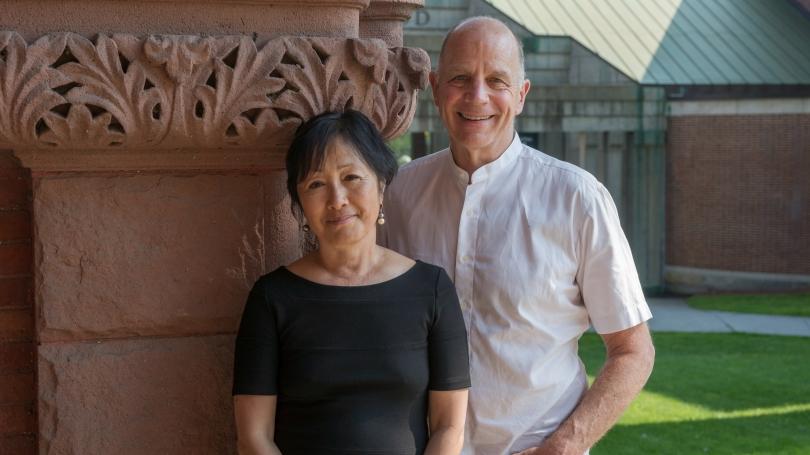 Architects Billie Tsien and Tod Williams. Photo by Eli Burakian, Dartmouth College Photographer.
