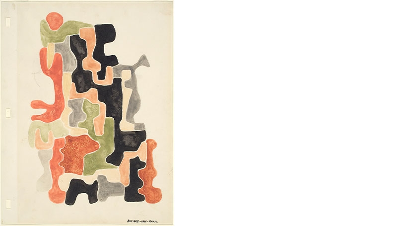 George Morrison, Untitled (Antibes-1953-April), 1953.