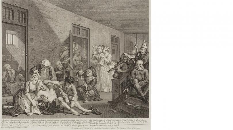 Hogarth, A Rake's Progress, Plate 3