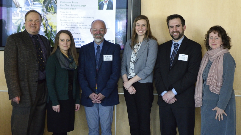 Kathryn Willeman with fellow presenters at Gordon College's Museum Studies Symposium in spring 2019.