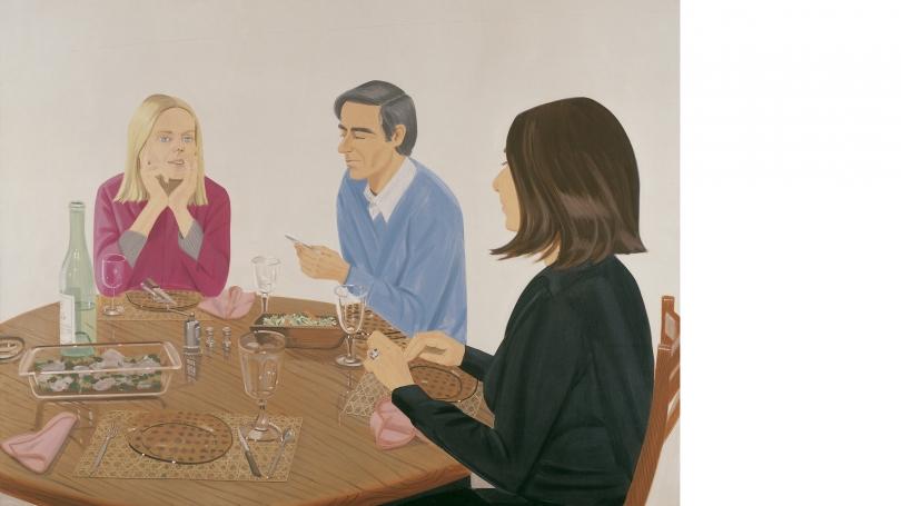 Alex Katz, Supper, 1974, acrylic on canvas. Gift of Joachim Jean Aberbach; P.975.70