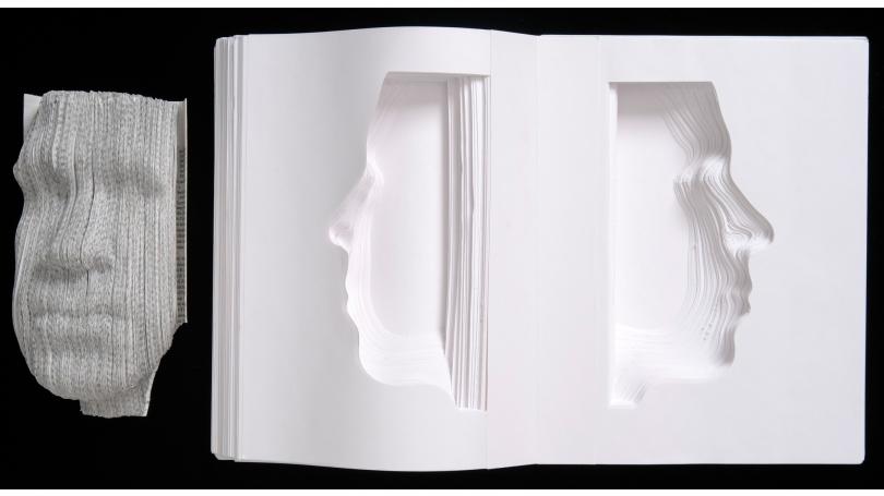 Nicholas Galanin, What Have We Become? Vol. 3 & 5a, paper sculpture, 2007.
