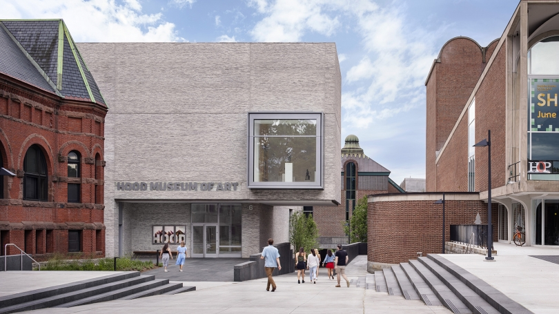 The Hood Museum of Art's north facade. Photograph copyright Michael Moran.