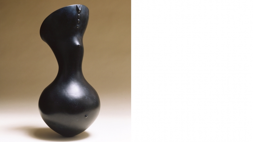 Magdalene Odundo, untitled, 2003, blackened terracotta. Purchased through the William B. Jaffe and Evelyn A. Jaffe Hall Fund and the Claire and Richard P. Morse 1953 Fund; C.2003.50.