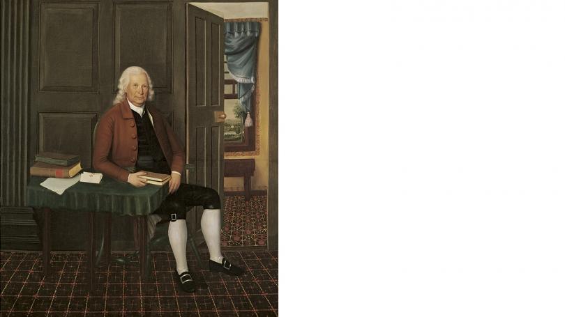 Joseph Steward, American, 1753-1822, John Phillips (1719-1795), Dartmouth Trustee, 1773-1793, 1794-1796, oil on canvas. Hood Museum of Art, Dartmouth: Commissioned by the Trustees of Dartmouth College; P.793.1.