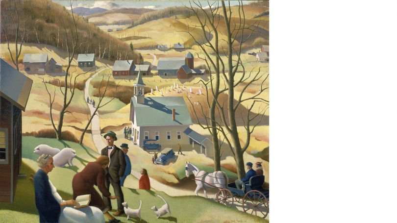 Paul Sample, American, 1896-1974, Beaver Meadow, 1939, oil on canvas. Hood Museum of Art, Dartmouth: Gift of the artist, Class of 1920, in memory of his brother, Donald M. Sample, Class of 1921; P.943.126.1.