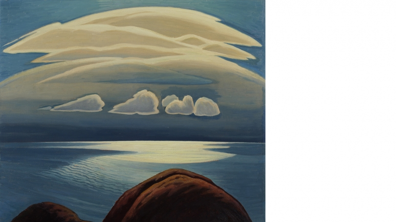Lawren Stewart Harris, Canadian, 1885 - 1970, Lake Superior, about 1948, oil on canvas. Hood Museum of Art, Dartmouth: Gift of the artist, Lawren S. Harris, in memory of his uncle, William Kilborne Stewart, through the Friends of Dartmouth Library; P.951.