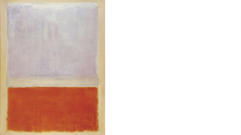 Mark Rothko, American (born in Lativa), 1903 - 1970, Lilac and Orange over Ivory, 1953, oil on canvas. Hood Museum of Art, Dartmouth: Gift of William S. Rubin; P.961.123.