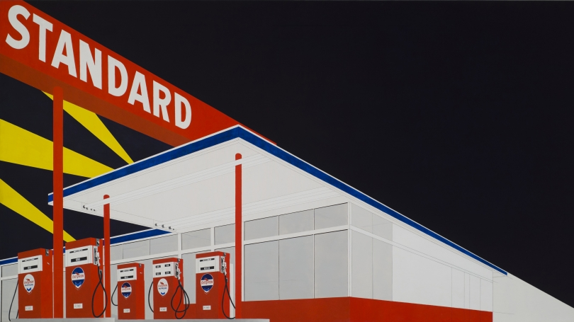 Edward Joseph Ruscha, American, born 1937, Standard Station, Amarillo (detail), Texas, 1963, oil on canvas.