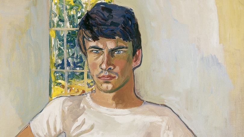 Alice Neel, American, 1900 - 1984, Daniel Algis Alkaitis, Class of 1965, 1967, oil on canvas. Hood Museum of Art, Dartmouth: Gift of Dr. Hartley S. Neel, Class of 1965AM, in honor of Churchill P. Lathrop; P.978.155.