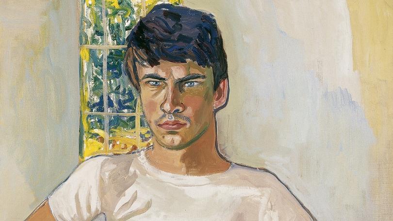Alice Neel, American, 1900 - 1984, Daniel Algis Alkaitis, Class of 1965, 1967, oil on canvas. Hood Museum of Art, Dartmouth: Gift of Dr. Hartley S. Neel, Class of 1965AM, in honor of Churchill P. Lathrop; P.978.155.