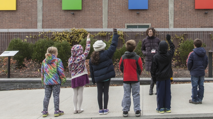 School tour of public art
