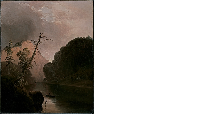 Thomas Doughty, Rowing on a Mountain Lake, about 1835, oil on canvas