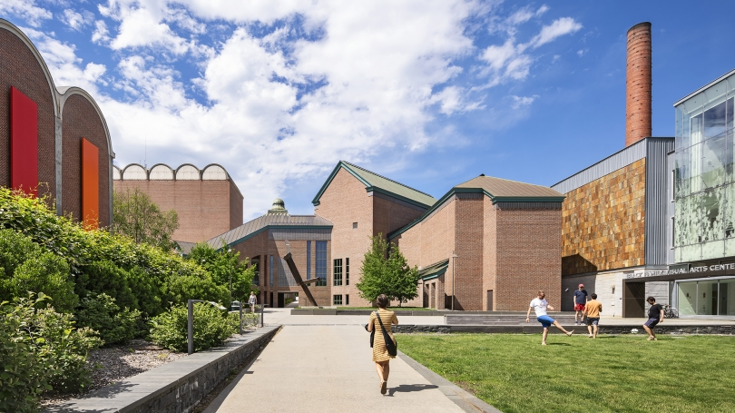 The Hood Museum of Art south façade. Photograph © Michael Moran